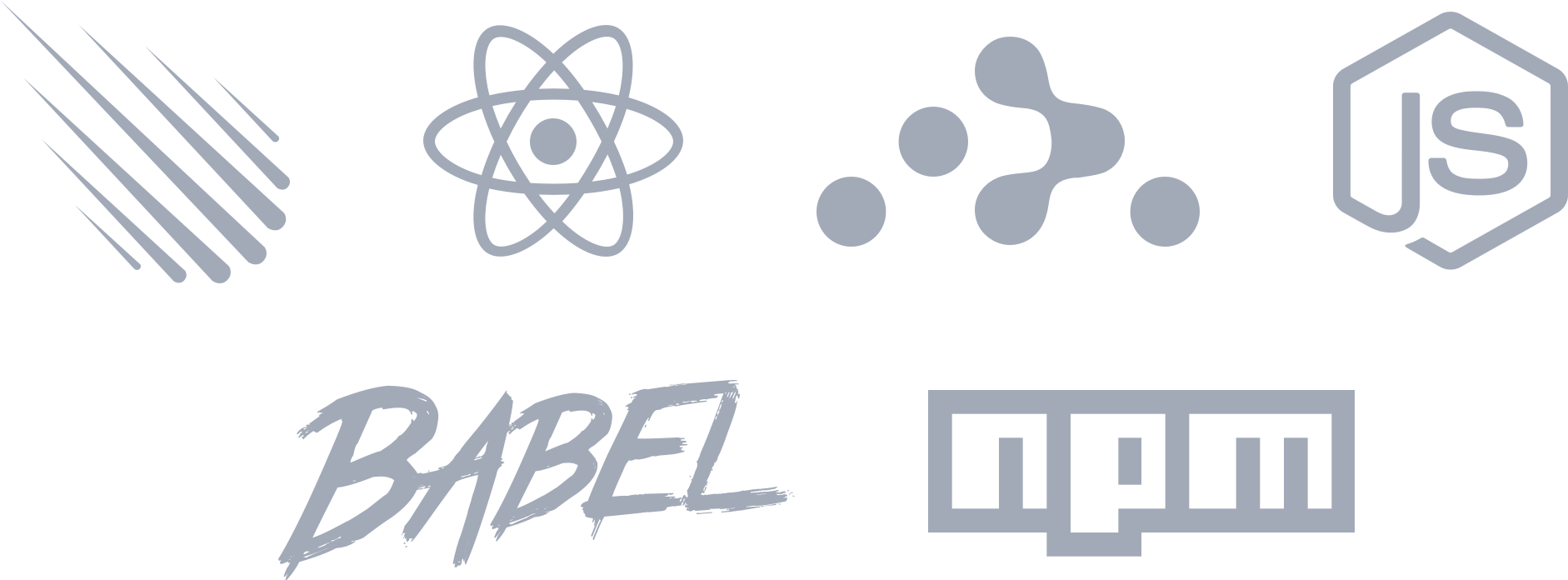 Technologies used by Pup – Meteor, React, React Router, NodeJS, Babel, NPM